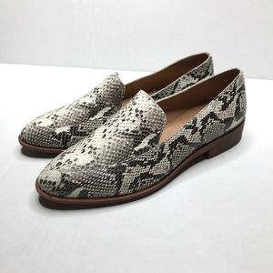 Madewell The Frances Loafer in Stamped Snake
